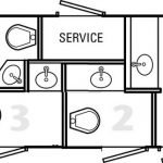 Portable Restroom Toilet layout
