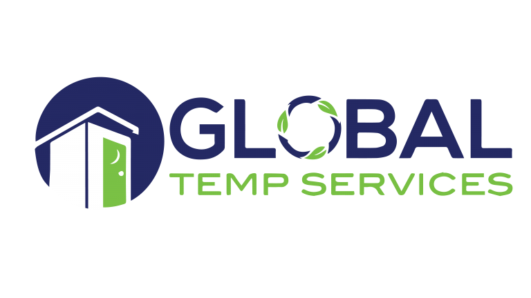 Portable Restroom Toilet Global Temp Services logo