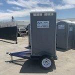 Portable Toilet Restroom on Trailer
