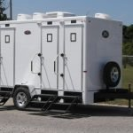 Portable Restroom Toilet 3 restrooms