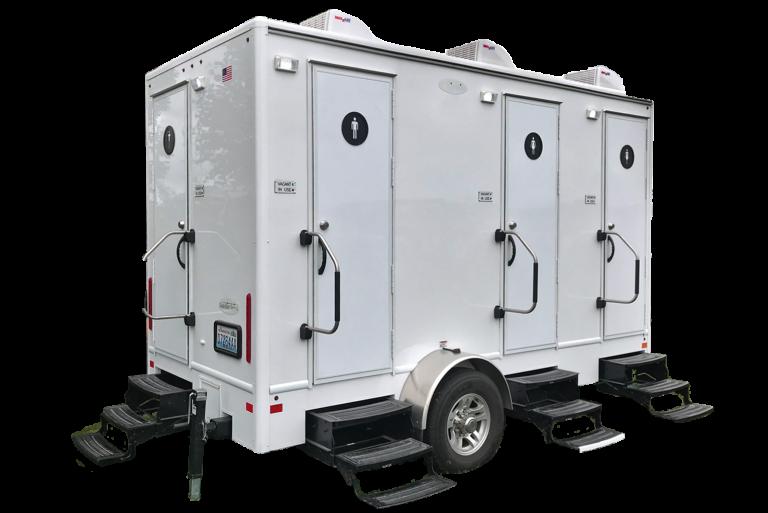 Portable Restroom Toilet trailer exterior
