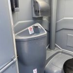 view of sink inside deluxe portable toilet