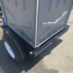 trailer base for portable toilet