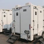 outside view #1 of 4 stall luxury restroom trailer