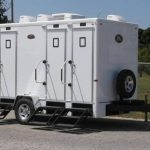 outside view #2 of 4 stall luxury restroom trailer