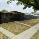 temp fence rental 1 with black privacy