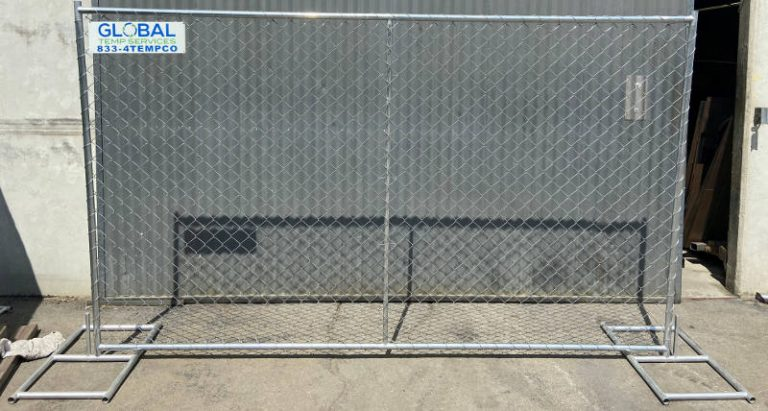 free standing temp fence