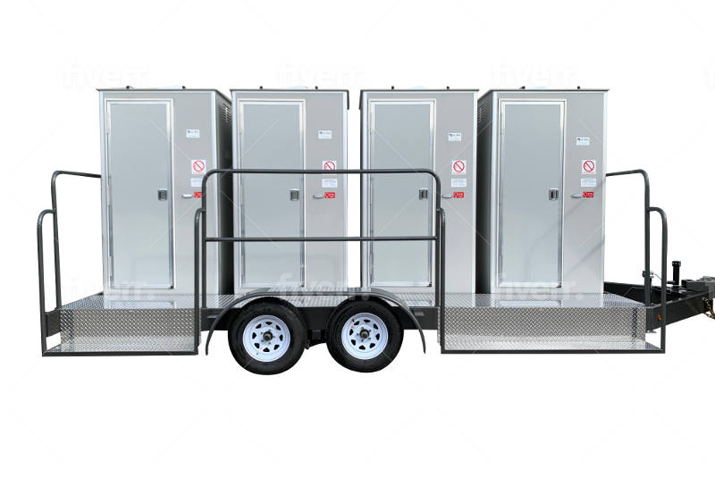4 unit restroom trailer